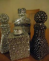 frugal home design diy home decor make rhinestone covered bottles