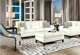 White Leather Living Room Set Splendid Contemporary Leather Living Room Furniture Kleer Flo