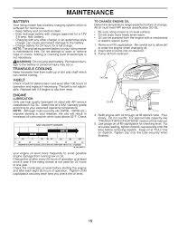 maintenance 15 battery transaxle cooling mcculloch mowcart 66