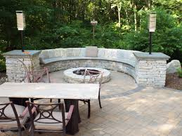 Firepit Bench Pit Bench By Landscape Solutions Maintenance