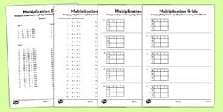 number multiplication and division multiply numbers page 1