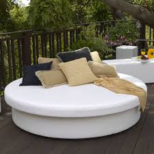 Modern Outdoor Round Table La Fete Designs Sun Pad Outdoor Sun Round Resort Daybed The Mine