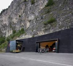unique garages unique fire station built inside the rock by berg meister wolf