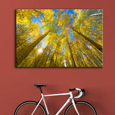 Living Room Paintings Autumn Tree Paintings Promotion Shop For Promotional Autumn Tree