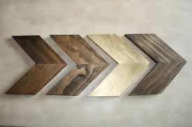 wood chevron arrows set of 4 wood arrow wall chevron