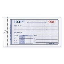 book receipt template rediform 8l821 numbered carbonless rent receipt books 50 sheet s view large image view huge image