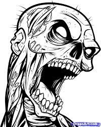 tattoo ideas zombie zombie skull tattoo design