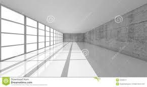 Interior Concrete Walls by 3d White Interior With Bright Windows And Concrete Walls Stock