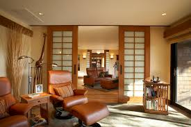 Bookcases With Sliding Glass Doors Plantation Shutters For Sliding Glass Doors Living Room Asian With
