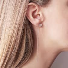 threaded earrings adira cylinder threaded earrings dovilė b