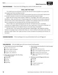 reading comprehension test for grade 5 daily reading comprehension básica y media