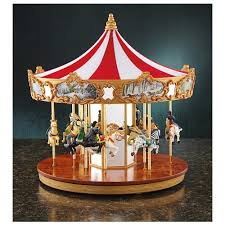 this gold label classic animated carousel box by mr