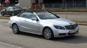 mercedes beamer 2010 mercedes benz e class convertible spied virtually undisguised