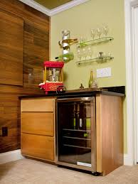 entrancing home bar ideas design with small wooden table set black