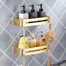 Bathroom Corner Shelving Polished Bathroom Corner Shelf No Drill Aluminum