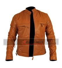 Racer Brown Biker Jacket