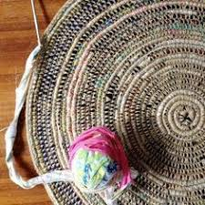 Diy Outdoor Rug With Fabric Turquoise Patio Porch Cord Crochet Rug By Camille Designs