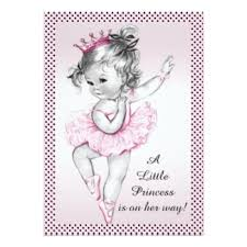 ballerina baby shower invitations seasonal showers