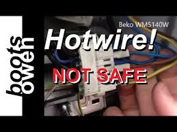 how to direct wire a washing machine motor youtube