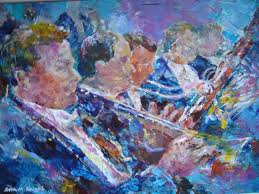 themed artwork orchestra painting by sera woking surrey artist in