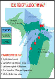 Michigan Indian Tribes Map by Us Coast Guard Prevention Blog Great Lakes Commercial Fishing