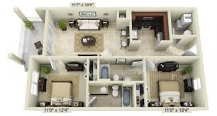 modern 2 bedroom apartment floor plans modern concept 2 bedroom apartment floor plans 3d with 17 image 14