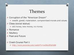 themes of wealth in the great gatsby the great gatsby by f scott fitzgerald pre reading discussion