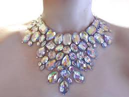 crystal rhinestone statement necklace images The aesthetics of rhinestone necklace jpg