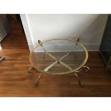 brass swan coffee table italian brass swan coffee table chairish