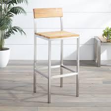 macon teak outdoor bar chair natural teak outdoor