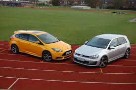 hatch twin test ford focus st 3 vs volkswagen golf gti parkers