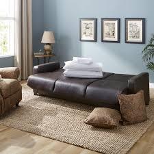 Brown Sofa Sleeper Leather Futon Sleeper In Espresso Free Shipping Today