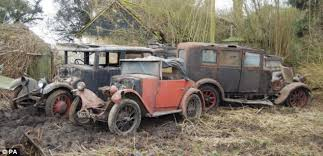 Vintage Cars Found In Barn In Portugal Classic British Cars Discovered In Barnyard Set To Fetch Thousands