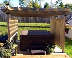 Privacy Pergola Ideas by Retractable Fabric Privacy Panels It Can Be Used As Wind Break As