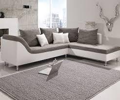 sofa grau weiãÿ grau weiß hausdesign ecksofa philip wohnlandschaft