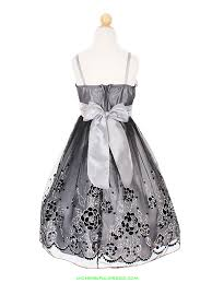 flower silver tulle overlayed dress flower