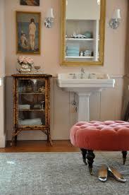 our pink bathroom in progress velvet u0026 linen