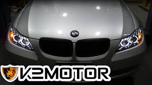 bmw e90 headlights k2 motor installation video 2006 08 bmw e90 3 series 4 door