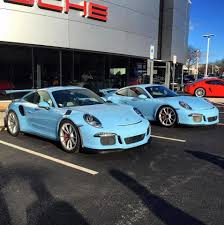 miami blue porsche boxster double gulf blue porsche 991 gt3 and gt3 rs dream cars