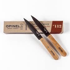 couteau de cuisine opinel 2 petits couteaux de cuisine opinel lame inoxydable fabrique