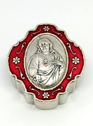 sacred heart rosary sacred heart of jesus rosary with matching box catholic gifts