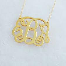 2 Inch Monogram Necklace Latitude Longitude Necklace Gold Engraved From Backzerodesign On