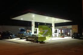 led gas station canopy lights manufacturers zedu led lights manufacturer gas station led lighting project with