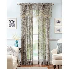 Better Homes And Garden Curtains Better Homes And Gardens Paisley Faux Linen Curtain Panels Set Of
