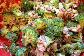 bacon sunflower seeds broccoli salad with bacon sunflower seeds purple raisins