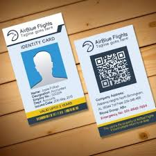 2 free company employee identity card design templates intended