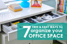 How To Organize Your Desk 7 Free U0026 Easy Ways To Organize Your Office Space Dash Of Wellness