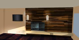 natural nice design floating wall units for living room that can