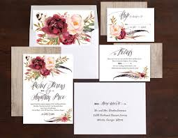 wedding invitations floral bohemian floral wedding invitations by emily elli