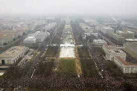 picture of inauguration crowd national mall crowd was bigger for women u0027s march than trump